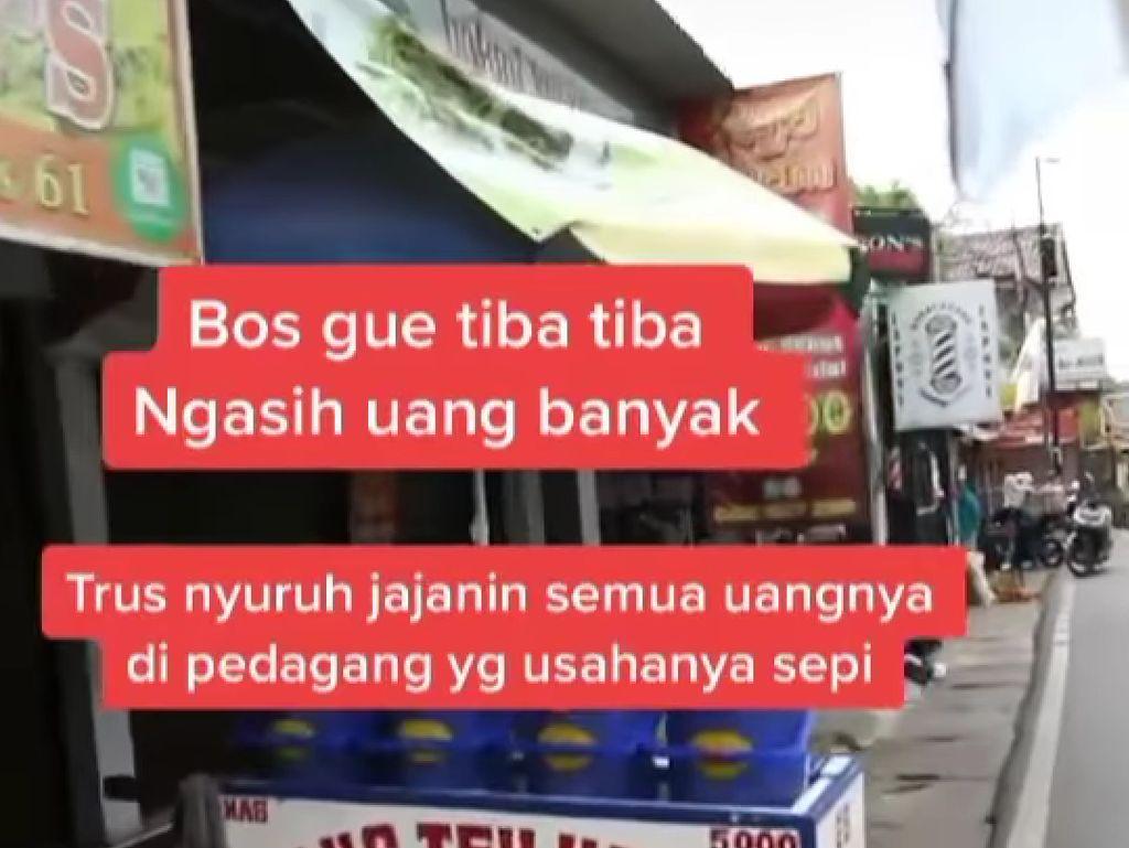 Borong Makanan dari Penjual yang Sepi Pelanggan, Pria Ini Banjir Pujian