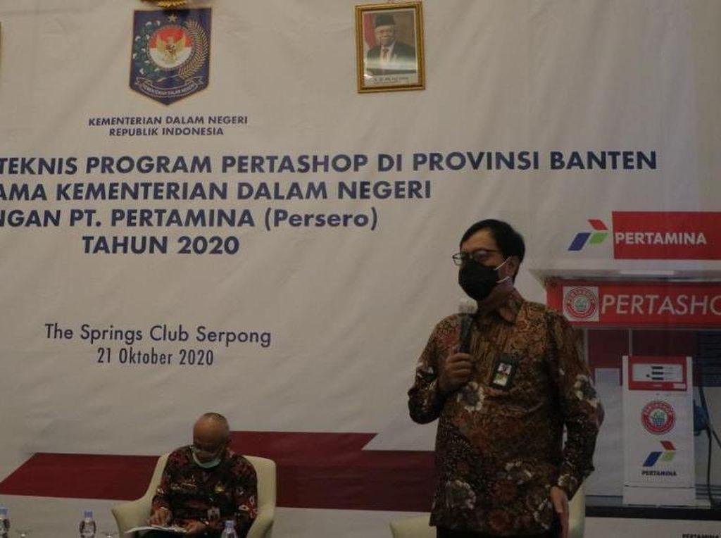 Kemendagri-Pertamina Sosialisasikan Pertashop ke Kepala Desa Se-Banten