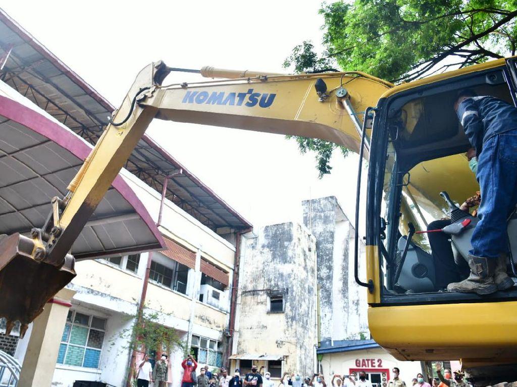 Stadion Mattoanging Dibongkar, Gubernur Sulsel Target Renovasi Selesai 2022
