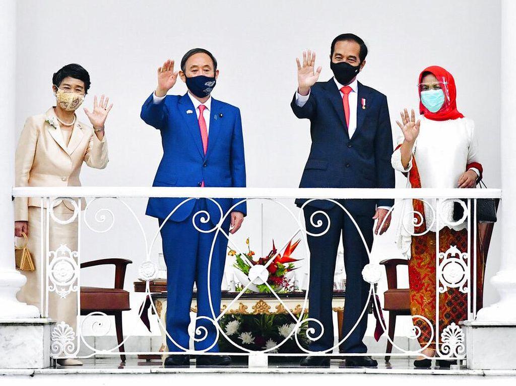 Momen Kedatangan PM Jepang ke Indonesia