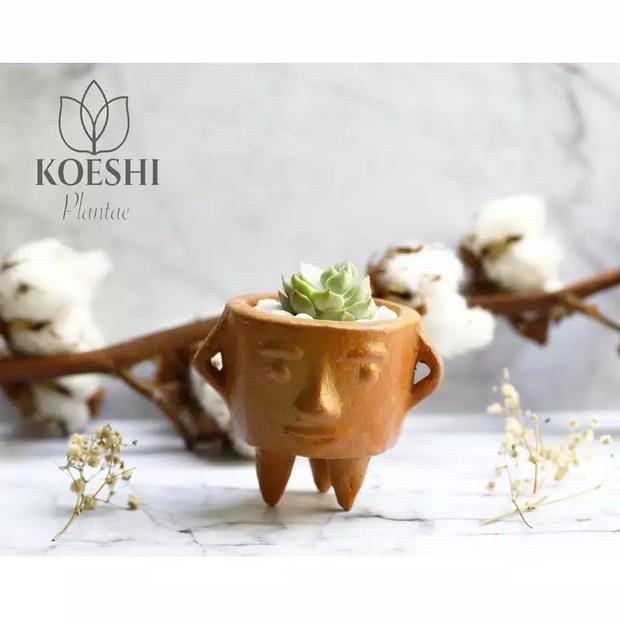 Kamu ingin memiliki pot yang unik dan cantik dari produk lokal? Bisa banget banget beli di Koeshi Plant,
