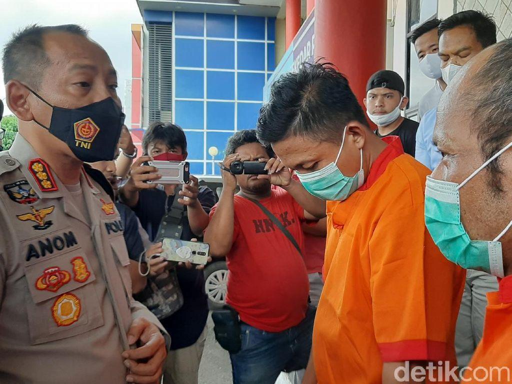 2 Pengeroyok Sopir Taksi Online di Polrestabes Palembang Ditangkap