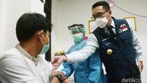Ridwan Kamil Tinjau Simulasi Vaksinasi COVID-19 di Depok