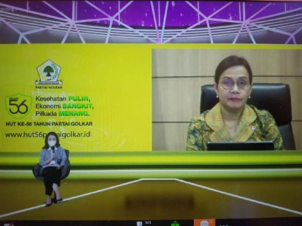 Di HUT Golkar, Sri Mulyani Dukung Pengembangan Ekonomi Digital