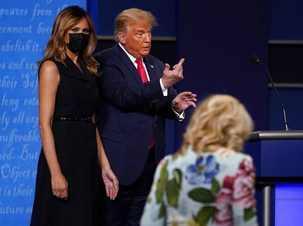 Penampilan Trump di Debat Terakhir Disebut Seperti Pinokio