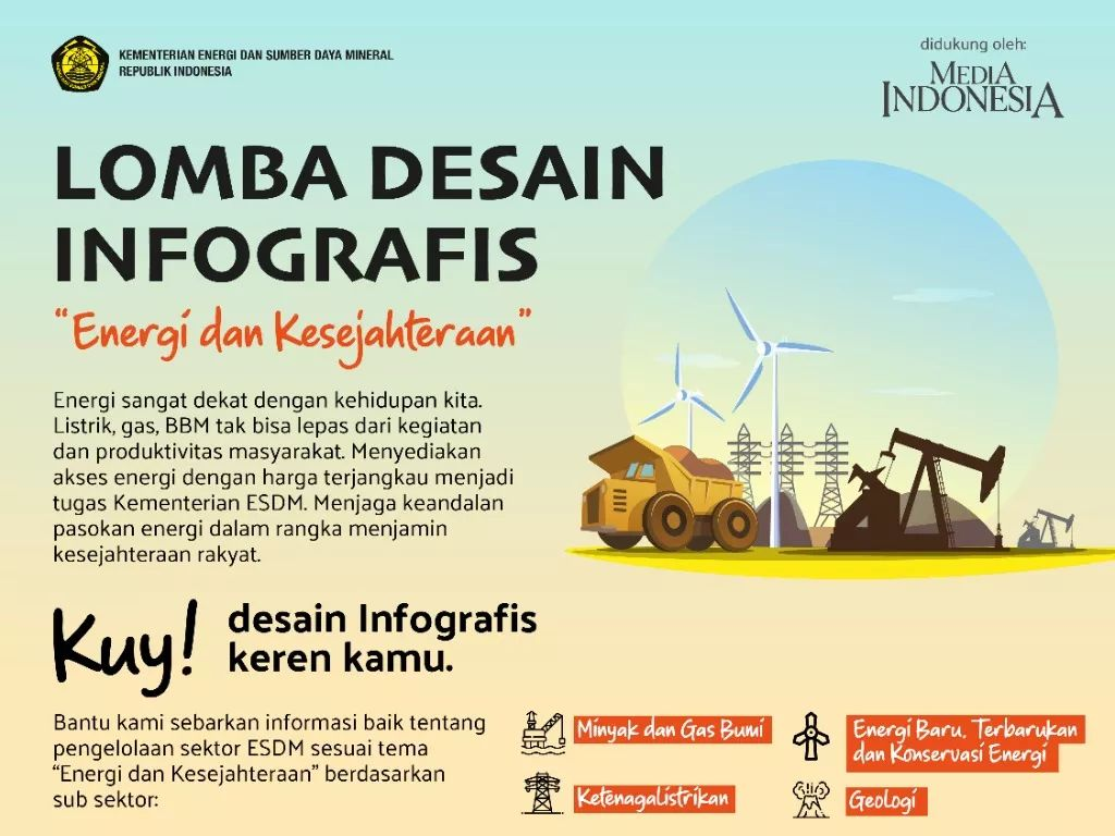 Kementerian ESDM Gelar Lomba Infografis, Hadiahnya Jutaan Rupiah
