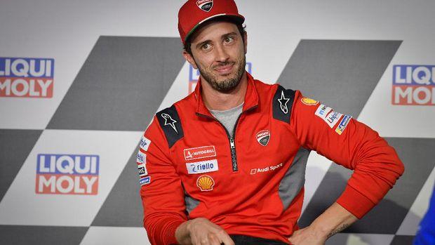 Andrea Dovizioso di konferensi pers jelang MotoGP Teruel 2020.