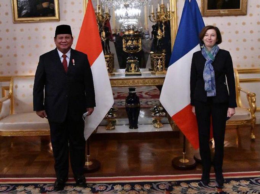 Bertemu dengan Menhan Prancis, Prabowo Bahas Industri Pertahanan Indonesia