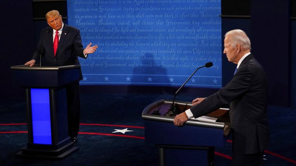Momen Trump dan Biden Berhadapan di Debat Capres Terakhir