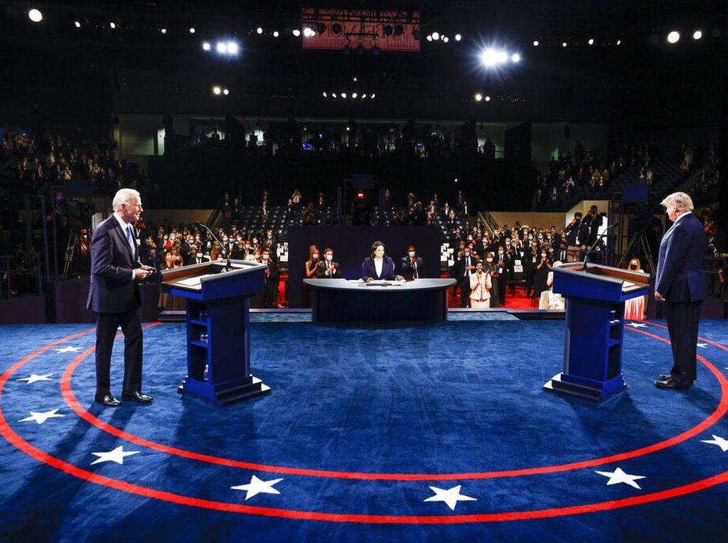 Saling Berbalas Olokan Trump Vs Biden di Debat Pamungkas