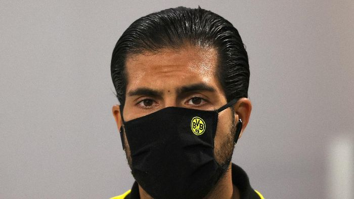 MUNICH, GERMANY - SEPTEMBER 30: Emre Can of Borussia Dortmund arrives at the stadium prior to the Supercup 2020 match between FC Bayern Muenchen and Borussia Dortmund at Allianz Arena on September 30, 2020 in Munich, Germany.  (Photo by Alexander Hassenstein/Getty Images )