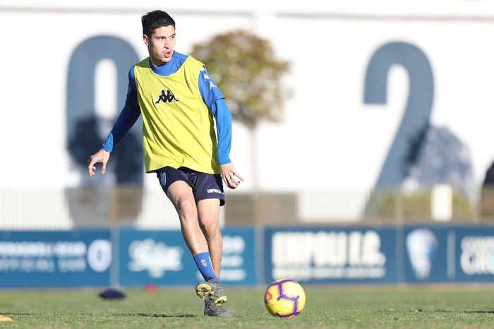 EMPOLI, ITALY - FEBRUARY 13: Kevin Diks of Empoli FC during training session on February 13, 2019 in Empoli, Italy.  (Photo by Gabriele Maltinti/Getty Images)