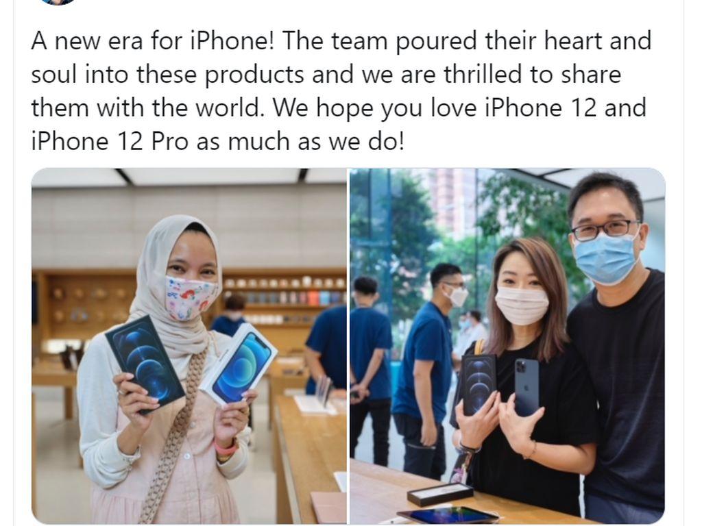 CEO Apple Unggah Foto Pembeli iPhone 12 Pro asal Indonesia, Gimana Ceritanya?