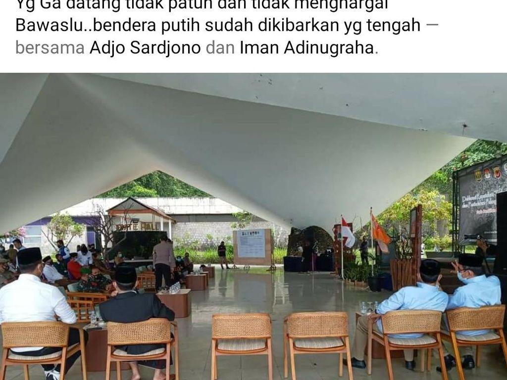 Paslon 2 Tak Hadir di Acara Deklarasi Pilkada Sukabumi Sehat, Kemana?