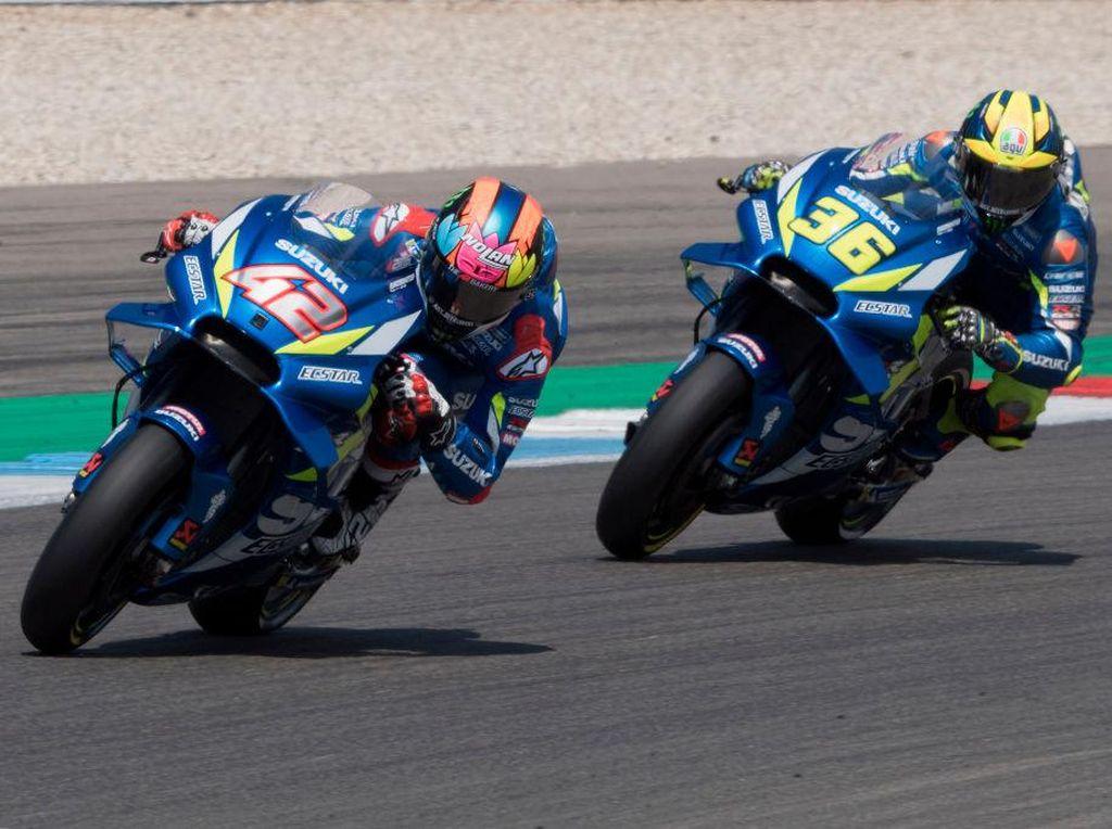 MotoGP 2021: Rins Ogah Pikirkan Marquez, Fokus Kalahkan Mir