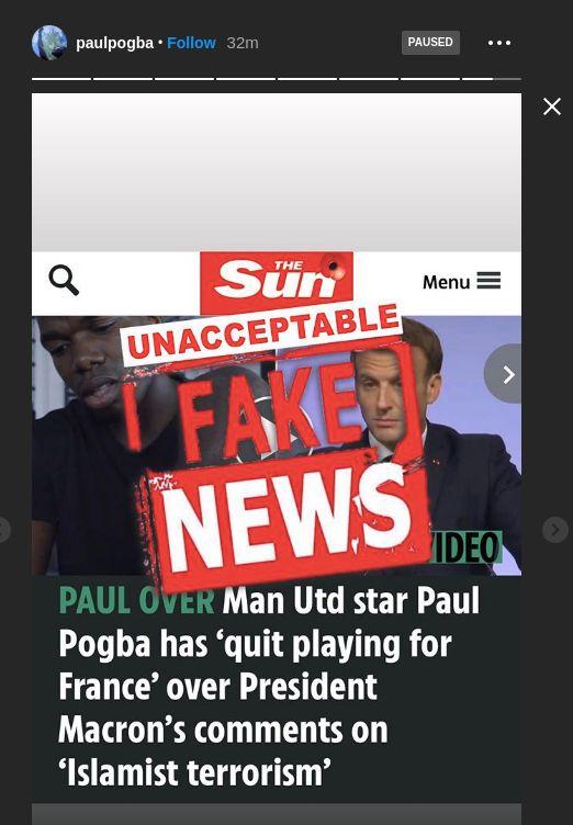 Paul Pogba menyanggah kabar berniat pensiun dari Timnas Prancis karena komentar Presiden Emmanuel Macron mengenai Islam.