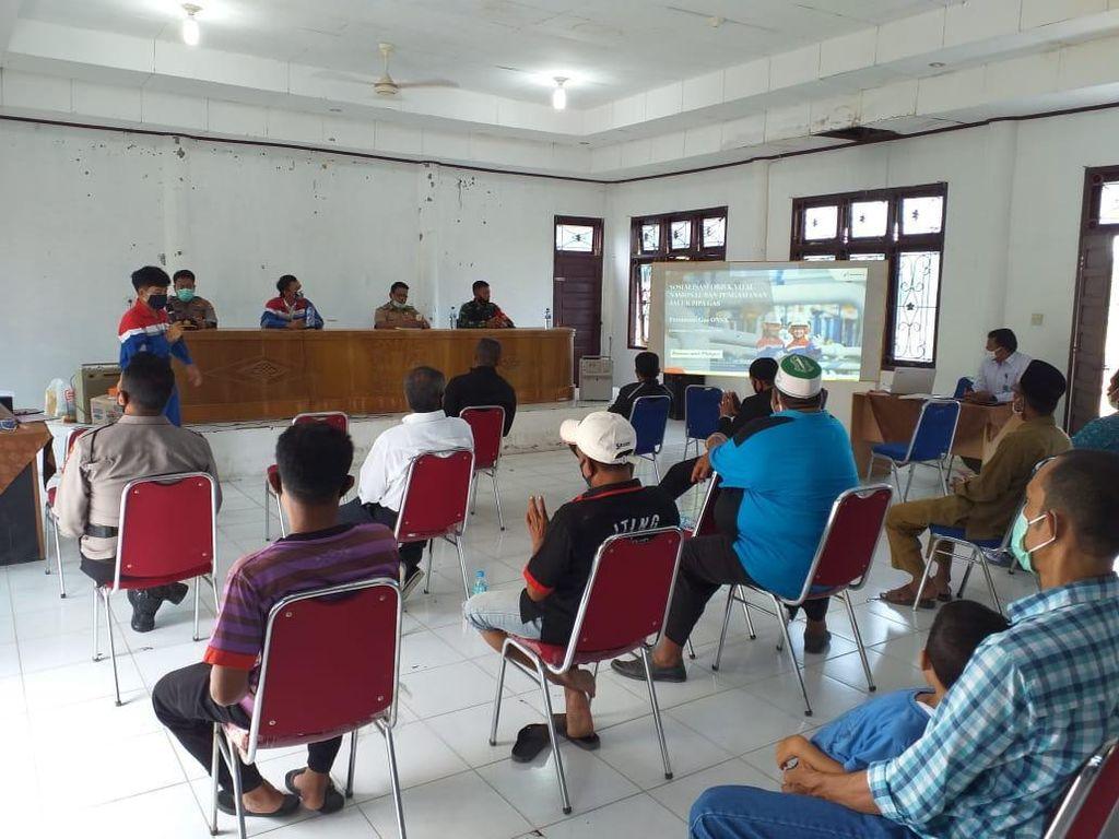 Pertagas Sosialisasi Keselamatan ke Warga di Jalur Pipa Gas Ruas Aceh