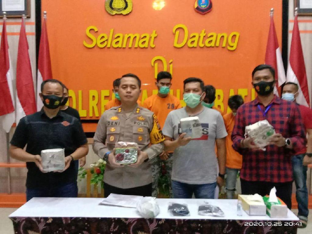 Polisi Tangkap 4 Pria Terkait Narkoba di Sumut, 4,2 Kg Sabu Disita