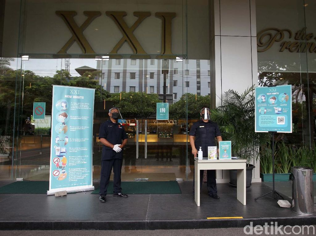 Persiapan Bioskop XXI Jakarta untuk Buka Kembali
