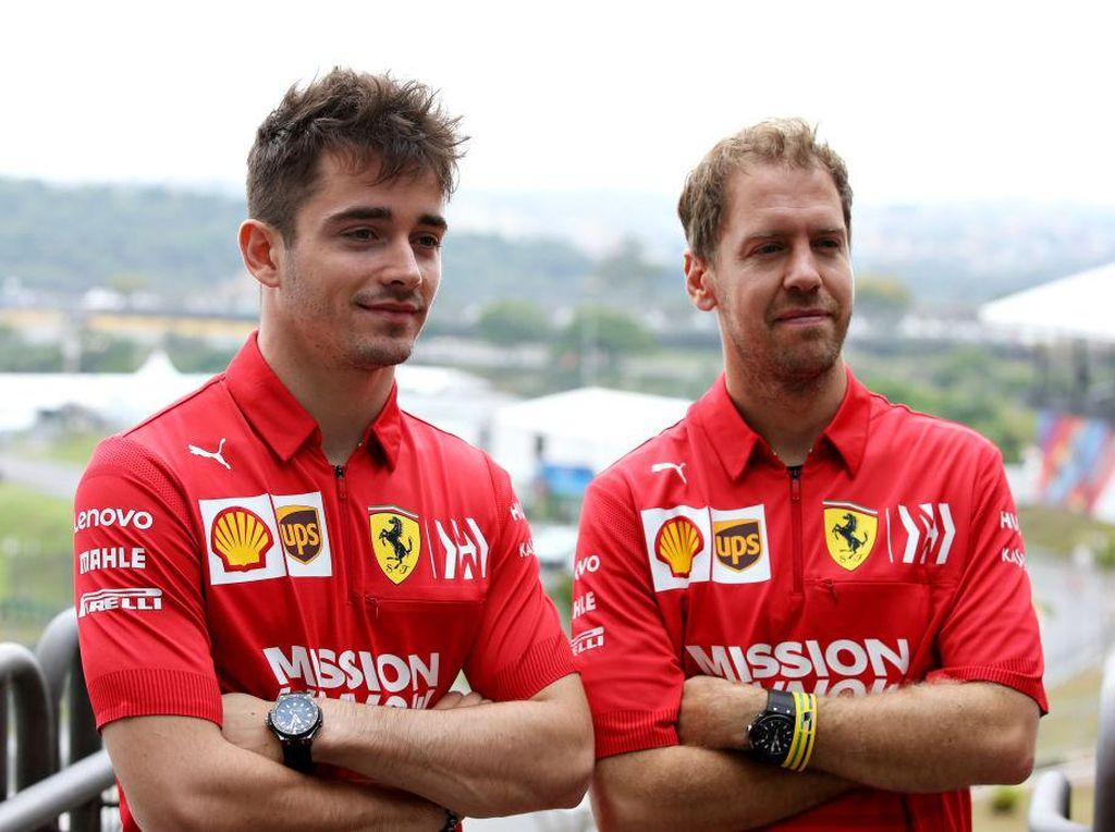 Vettel Jawab Tudingan Diperlakukan Beda dengan Leclerc di Ferrari