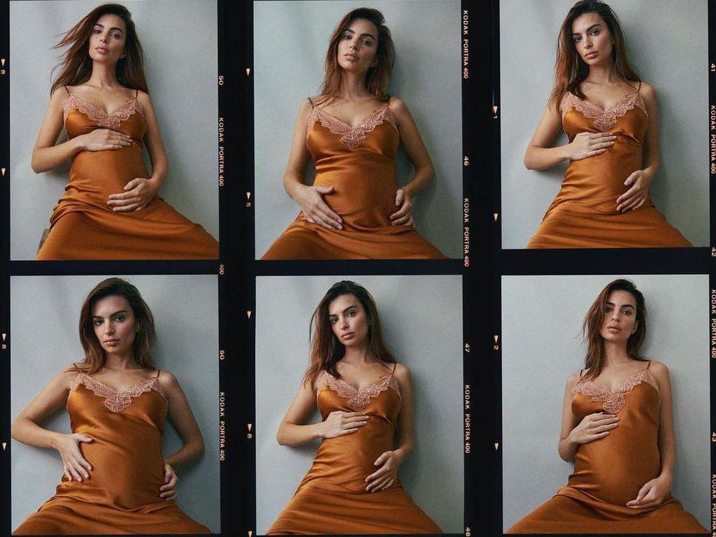 5 Potret Seksi Emily Ratajkowski Umumkan Kehamilan Pertama