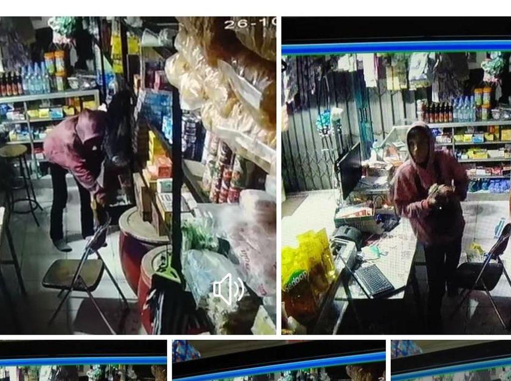 Terekam CCTV, Pencuri Bercelurit Satroni Toko di Sukabumi