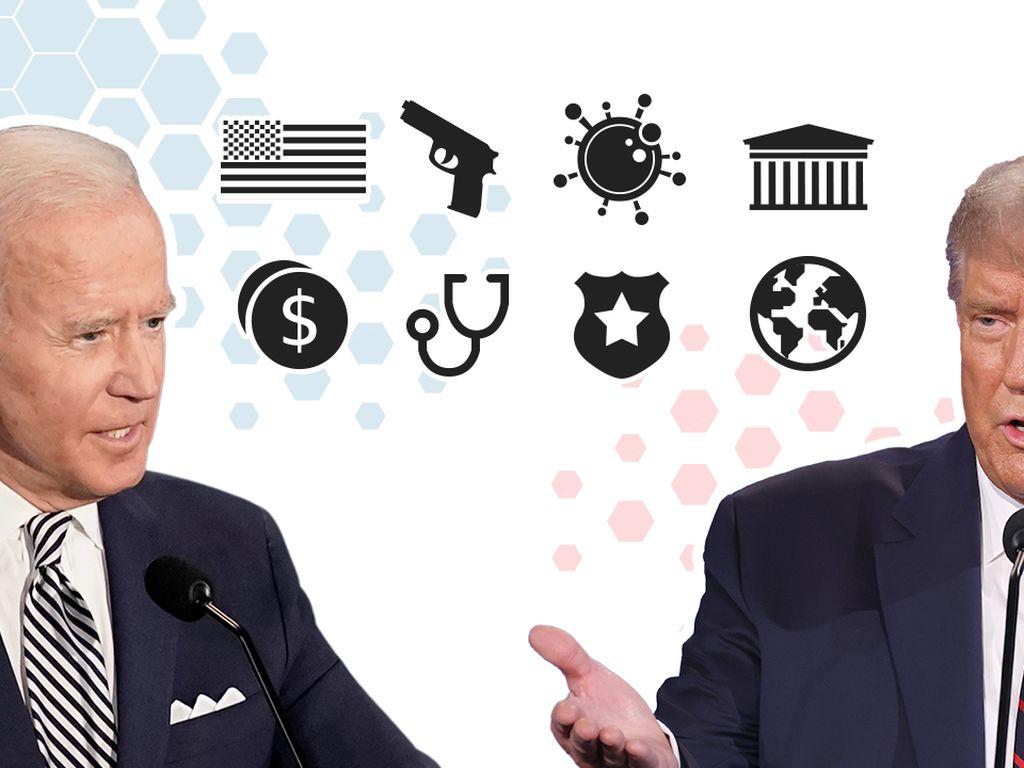Perbedaan Kebijakan Trump dan Biden Mulai Soal Corona Hingga Senjata Api