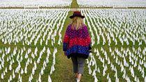 240 Ribu Bendera Putih Jadi Tanda Penghormatan Korban COVID-19 di AS