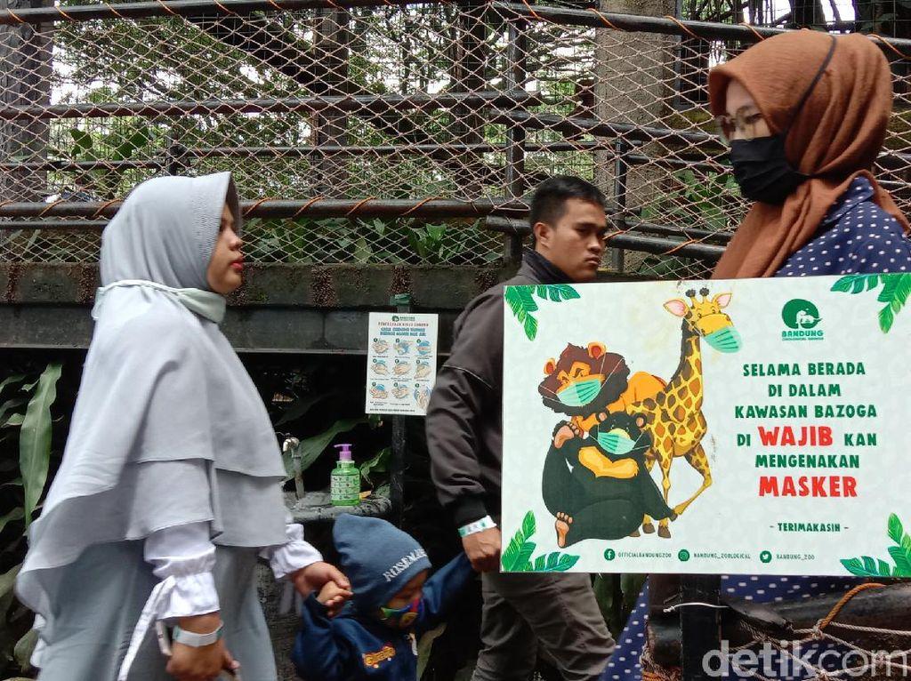 Suasana Bandung Zoo Saat Libur Long Weekend