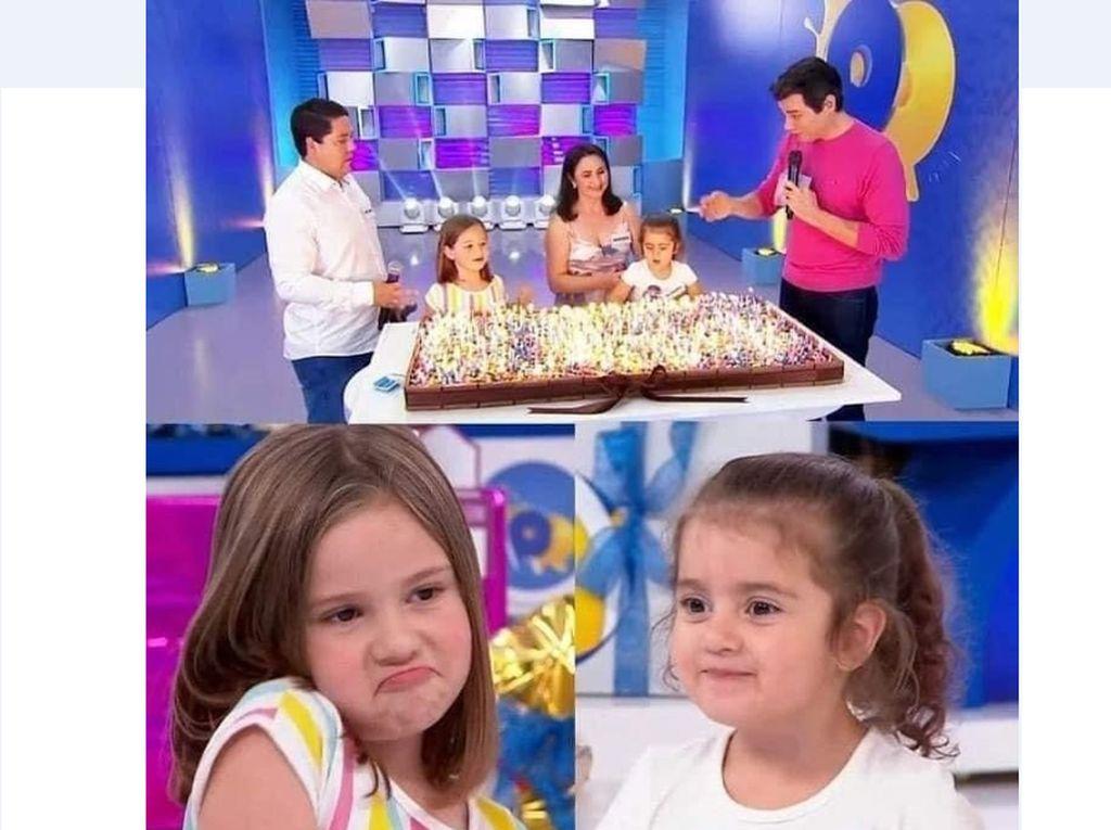 Kisah di Balik Dua Bocah Rebutan Tiup Lilin Kue Ulang Tahun