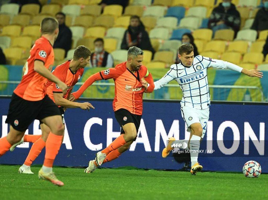 Shakhtar Vs Inter Imbang Tanpa Gol di Babak I