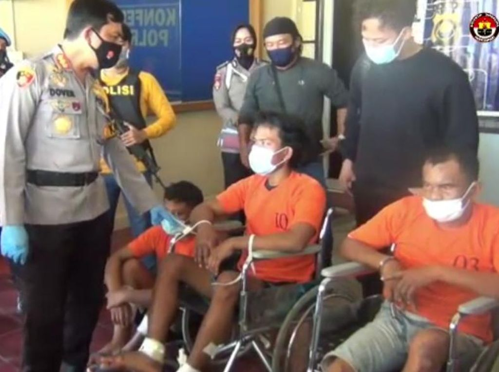 Akhirnya Komplotan Perampok Bersenpi yang Gasak Toko Emas di Jambi Ditangkap