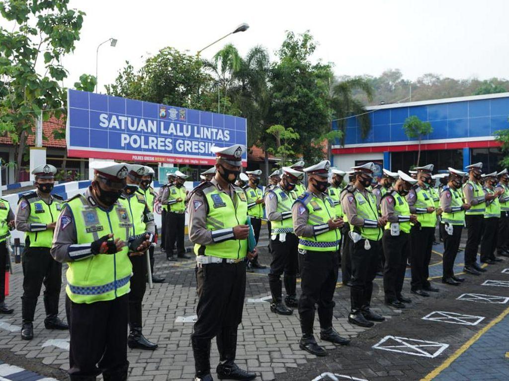 Ratusan Personel Polisi Disiagakan Selama Libur Panjang di Gresik