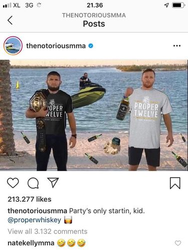 screenshoot Instagram Conor McGregor