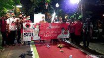 Survei Eri-Armuji Unggul 6 Persen, Posko-posko di Kampung Makin Semarak