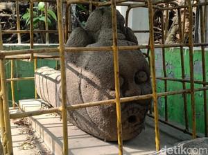 Ada Arca Peninggalan Zaman Majapahit di Wisata Gong Perdamaian Madiun