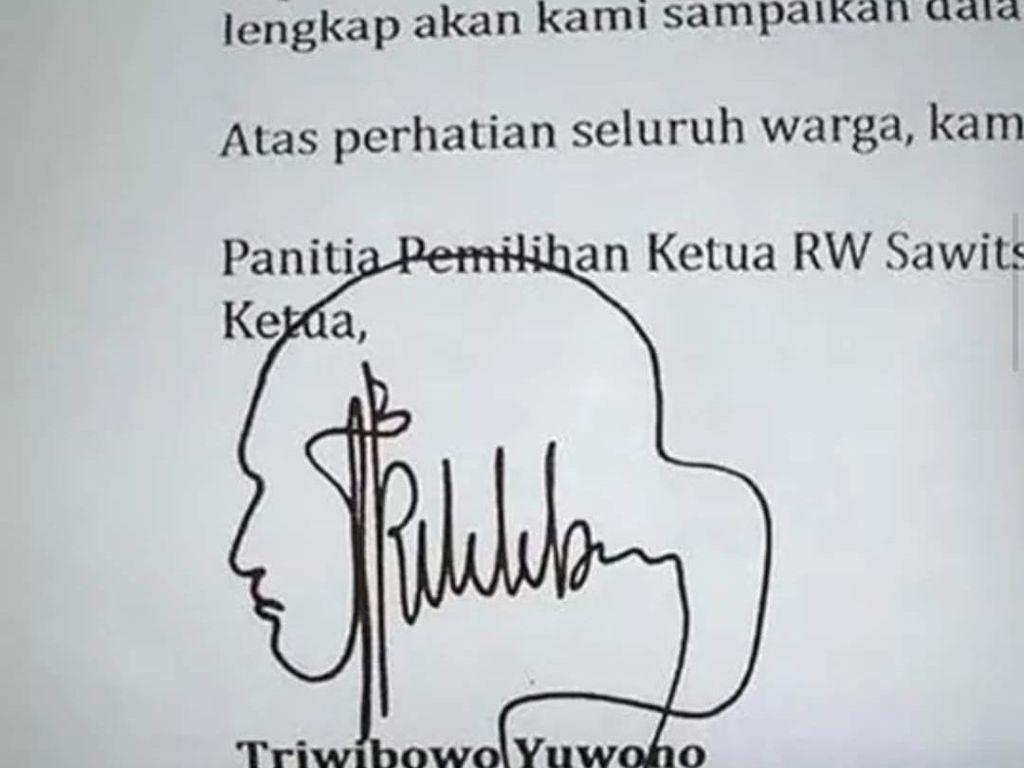 Kumpulan Tanda Tangan KTP Indonesia yang Ribet Tapi Lucu