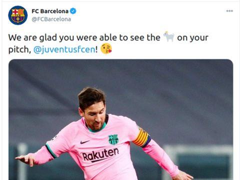 juventus vs barcelona twitter lionel messi cristiano ronaldo liga champions