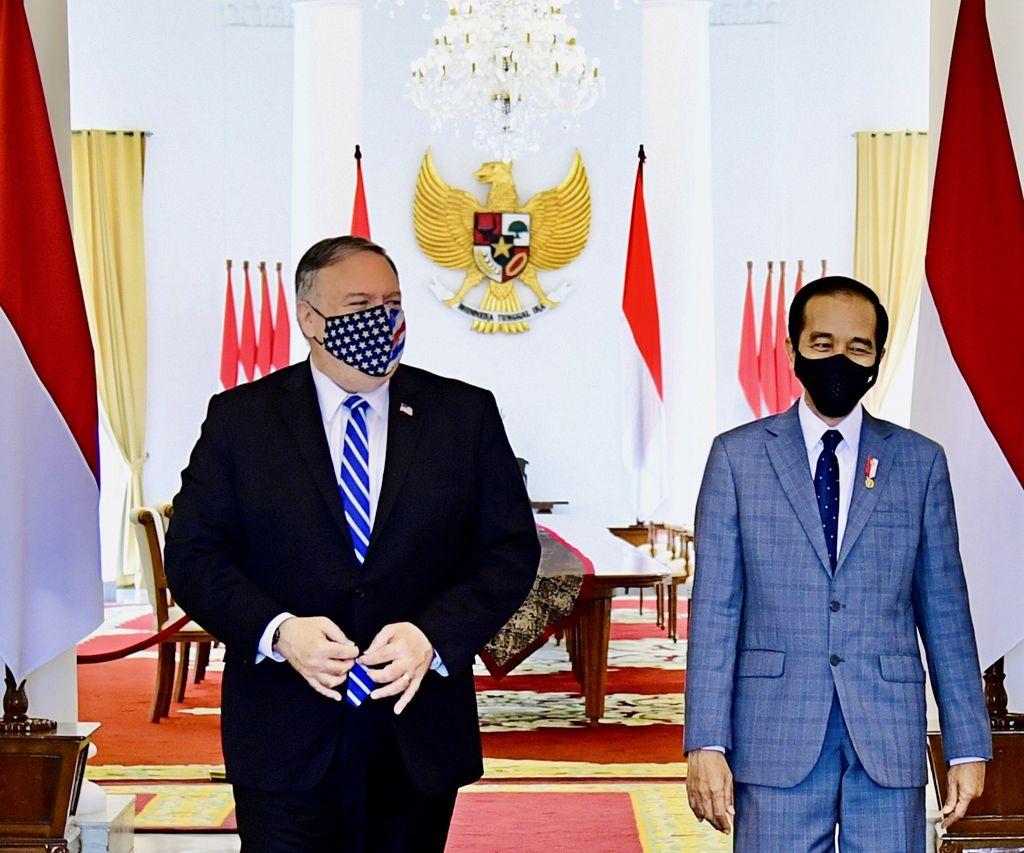 Menteri Luar Negeri Amerika Serikat Michael Richard 'Mike' Pompeo kembali lakukan lawatan ke Indonesia. Ia pun disambut hangat Presiden Joko Widodo (Jokowi) di Istana Bogor.