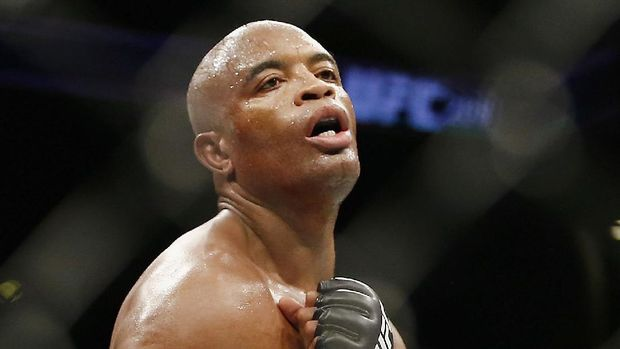 NEW YORK, NY - FEBRUARY 11: Anderson Silva of Brazil looks on while fighting against Derek Brunson (not pictured) of United States in their middleweight bout during UFC 208 at the Barclays Center on February 11, 2017 in the Brooklyn Borough of New York City. Anthony Geathers/Getty Images/AFP
