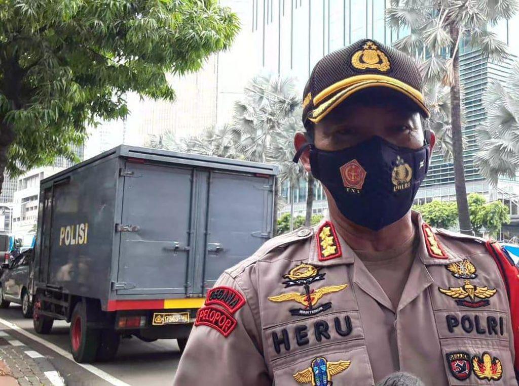 Antisipasi Demo, Polisi Jaga Kedubes Prancis di Jakarta hingga 2 November