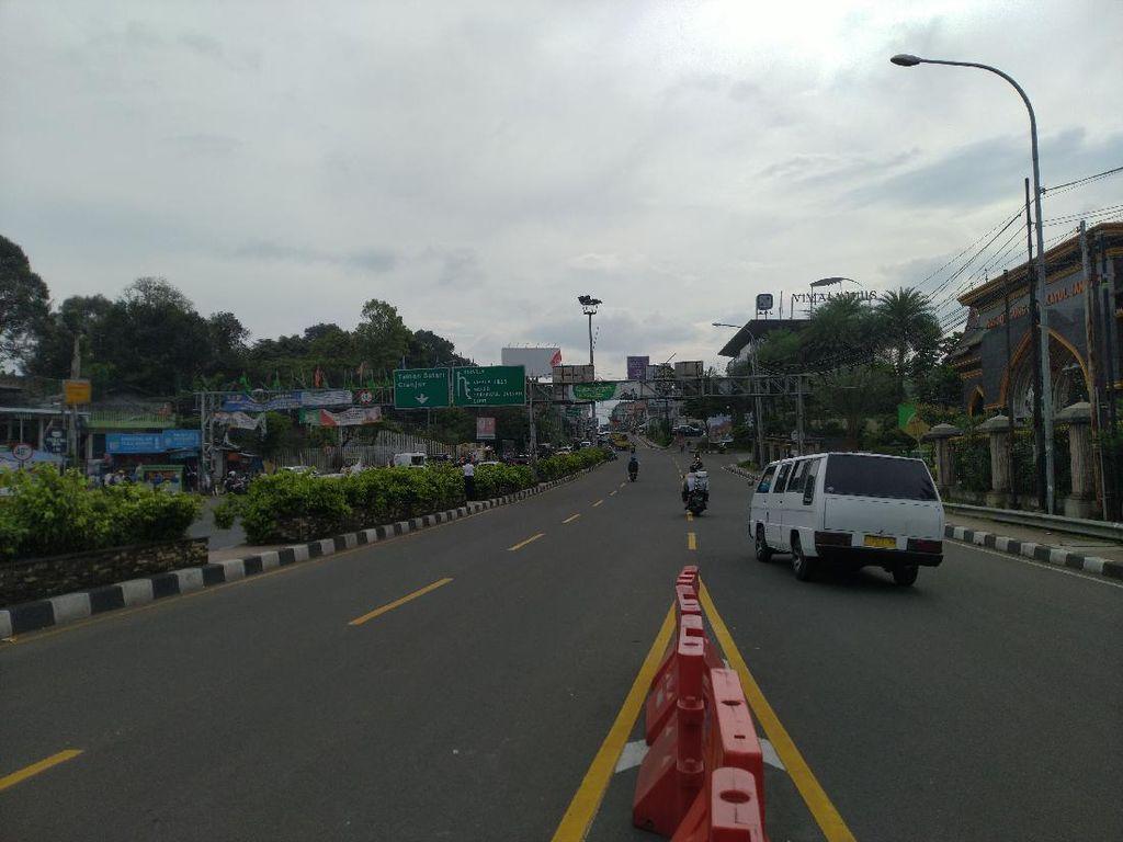 Polisi Berlakukan One Way di Puncak Bogor Pagi Ini, Lalin Ramai Lancar