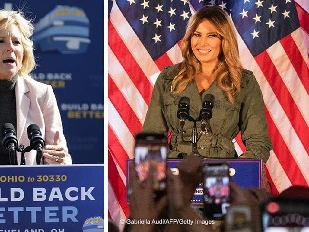 Melania Trump Atau Jill Biden, Siapa Ibu Negara AS Berikutnya?