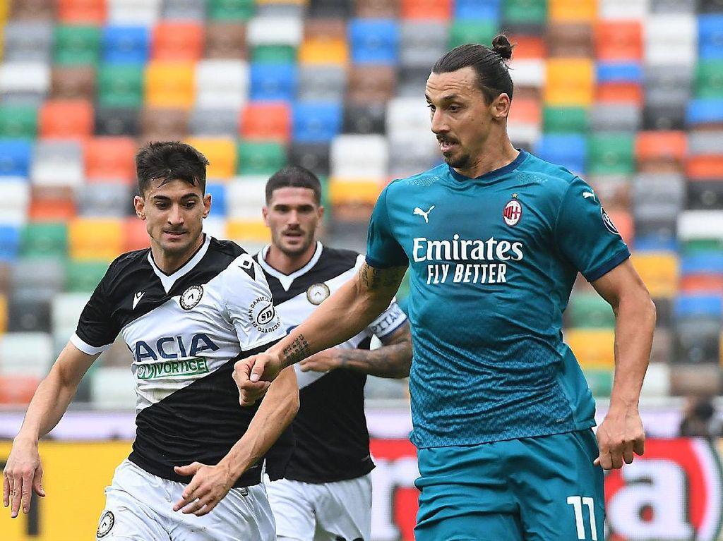 Udinese Vs Milan: Gol Salto Ibrahimovic Menangkan Rossoneri