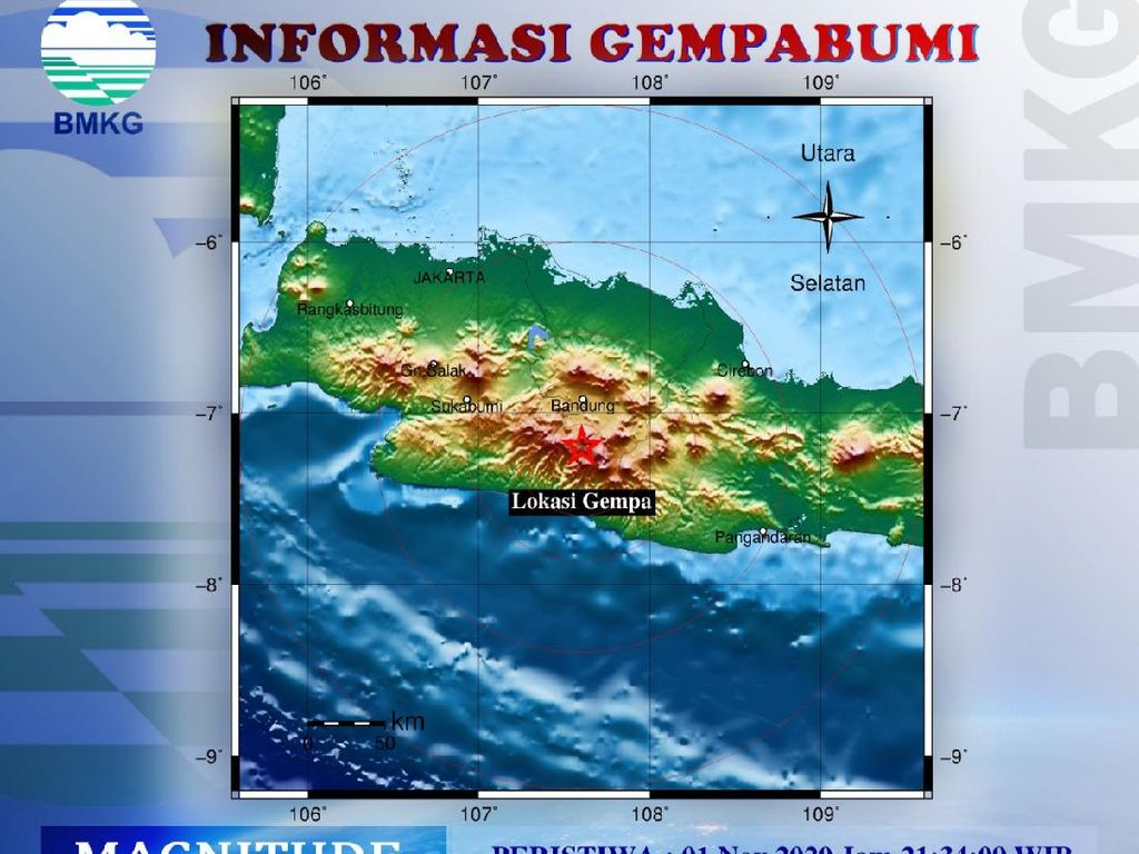 PVMBG: Gempa Bandung Dipicu Aktivitas Sesar Garut Selatan