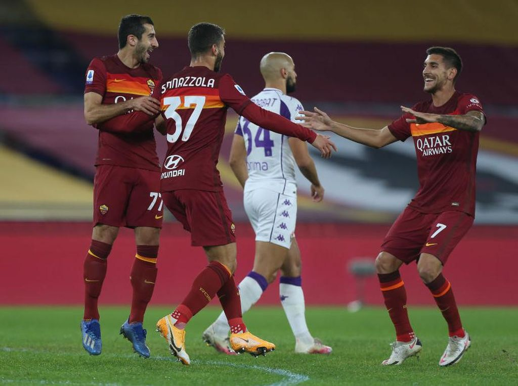 Spinazzola dan Pedro Bawa Roma Bungkam Fiorentina