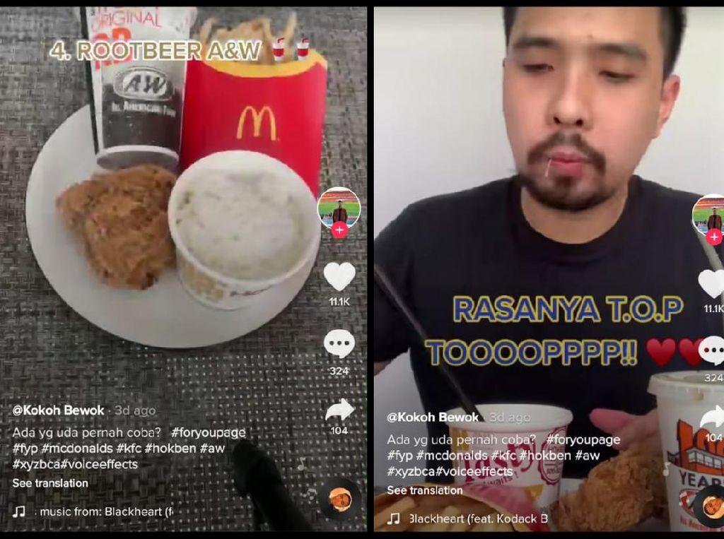 Eksperimen Netizen, Gabungkan Menu Favorit Resto Fast Food
