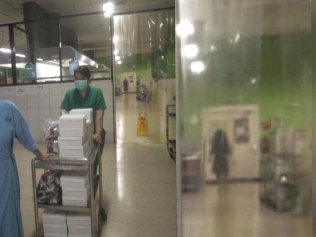 Viral Foto Sosok Hitam Saat Perawat COVID-19 Jaga Malam di RS