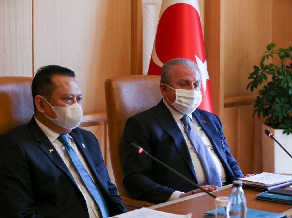 Ke Turki, Ketua MPR Dukung Sikap Tegas Presiden Erdogan kepada Macron