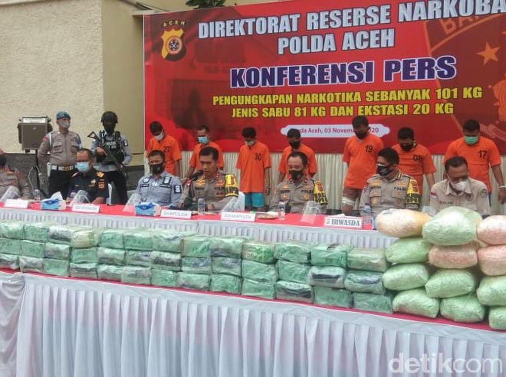 Pawang Narkoba Ditembak Mati Sudah Selundupkan 465 Kg Sabu ke Aceh